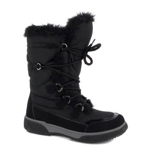 Kimberfeel Black Sasha Quilted Snow Boots