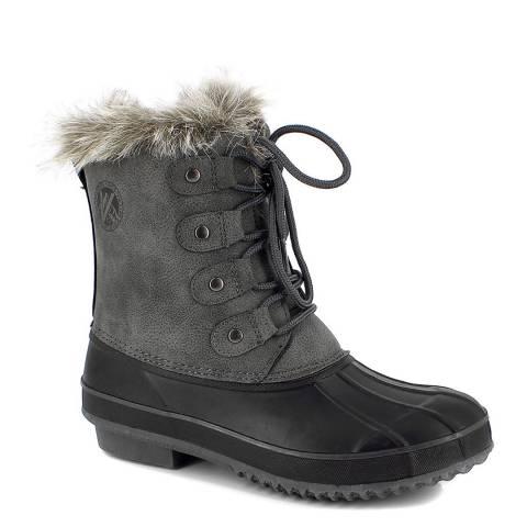 Kimberfeel Grey & Black Valandry Short Boots