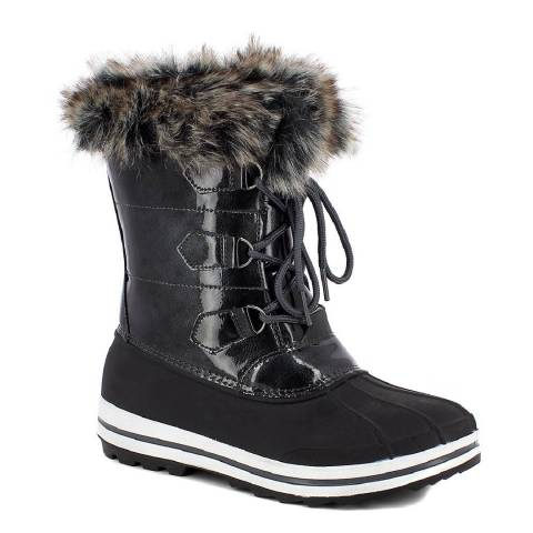 Kimberfeel Grey Morzine Lace Up Snow Boots