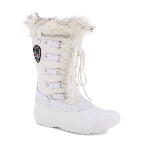 Kimberfeel White Elsa Quilted Snow Boots