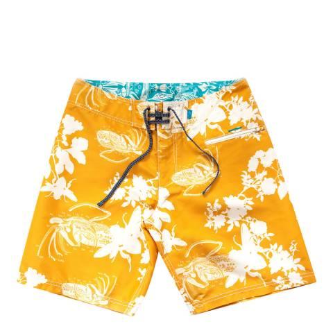 Riz Board Shorts Mustard Blighty Short Block Bee