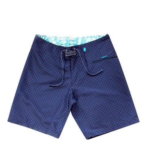 Riz Board Shorts Navy - Passion Blighty Short Polka Dot