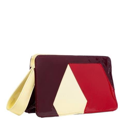 Orla Kiely Tonal Patent Leather Clutch Bag