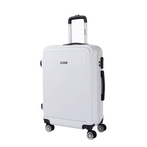 Bagstone Beige 8 Wheel Flower Suitcase 66cm