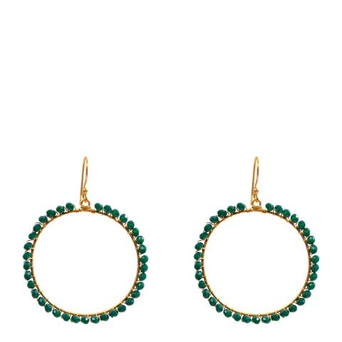 Liv Oliver Emerald Hoop Earrings