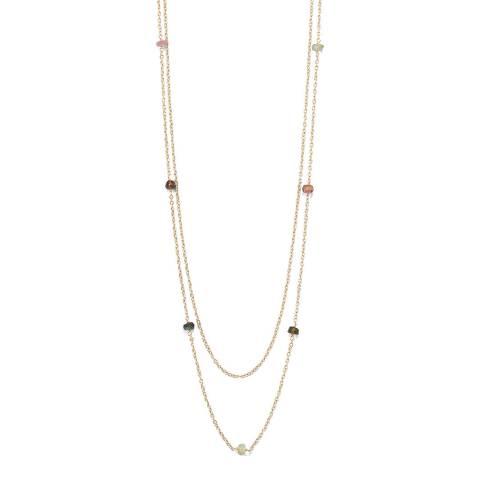 Liv Oliver Tourmaline Station Double Row Necklace