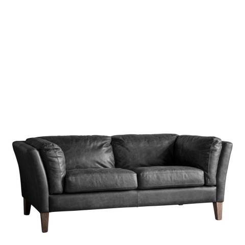 Gallery Ebury 2 Seater Sofa, Black Leather