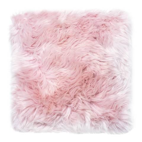 Royal Dream Heavenly Pink Sheepskin Cushion 30x30cm