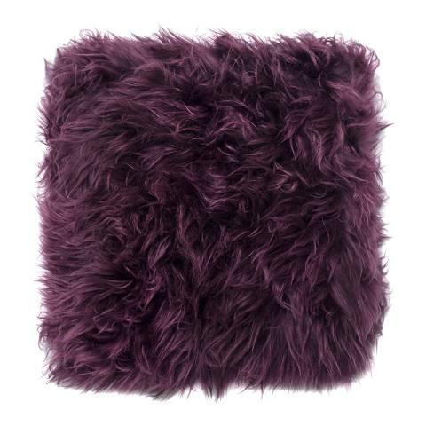 Royal Dream Italian Plum Sheepskin Cushion 30x30cm