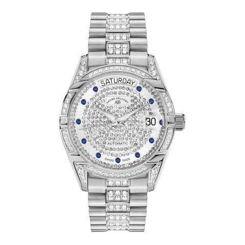 Andre Belfort Women's Silver Zirconia Watch 35mm