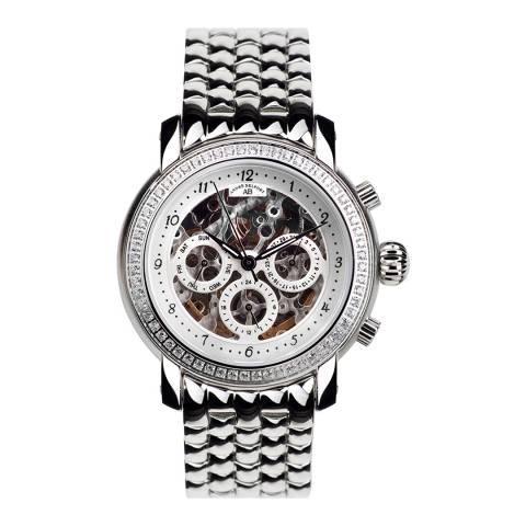 Andre Belfort Women's Silver Stainless Steel Watch 39mm