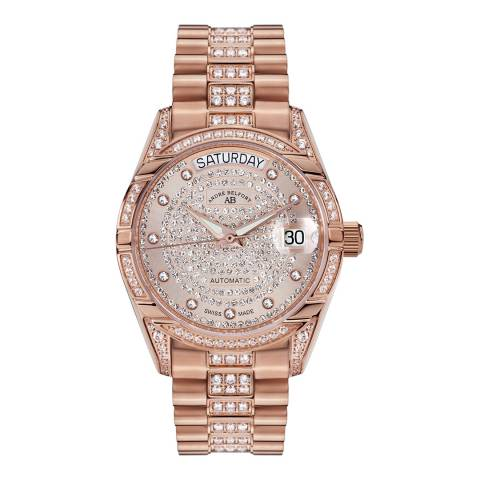 Andre Belfort Women's Rose Gold Plated Zirconia Watch 35mm