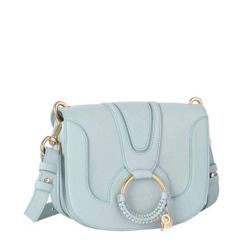 See by Chloe Icy Blue Leather Hana Medium Crossybody Bag