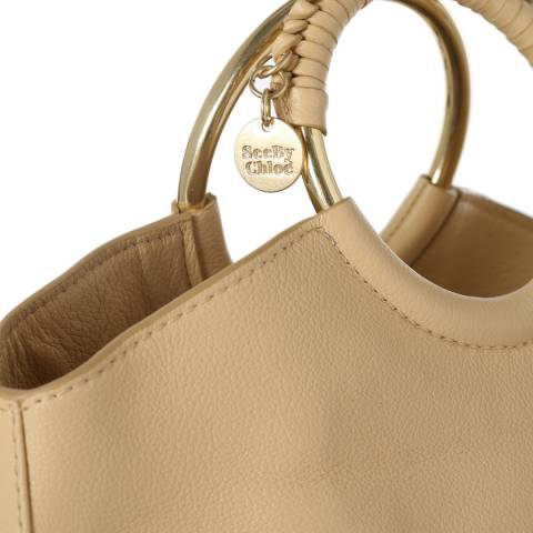 See by Chloe Straw Beige Monroe Shoulder Bag