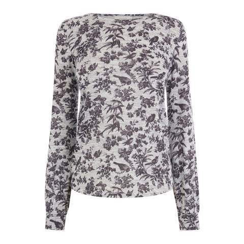 Oasis Grey Rosie Bird Cosy Top