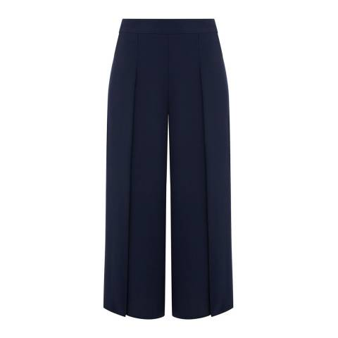 Oasis Navy Split Wide Leg Trousers