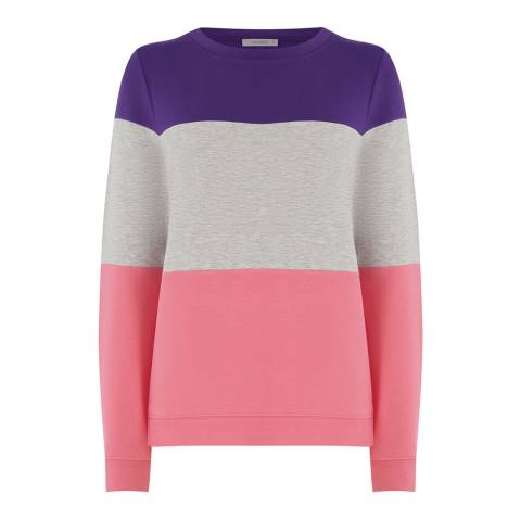 Oasis Multi Colourblock Sweat Top
