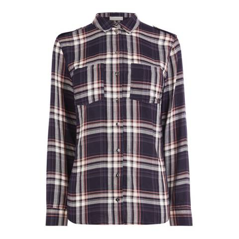 Oasis Navy Check Shirt