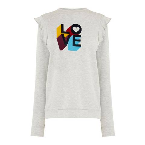 Oasis Pale Grey Love Sweat Top