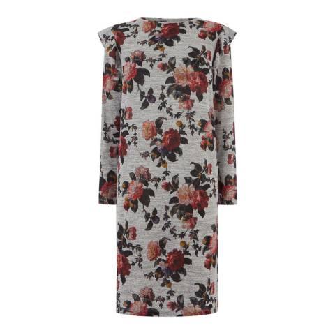 Oasis Grey/Multi Autumn Garden Cosy Dress