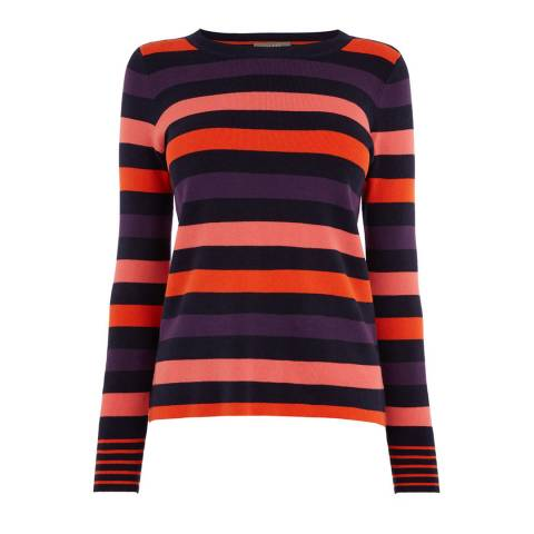 Oasis Multi Clara Stripe Cotton Blend Jumper