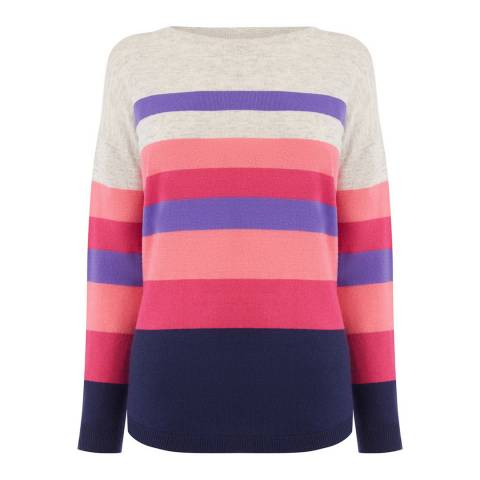 Oasis 140068507    00 BRIDGETTE STRIPE JUMPER - 00