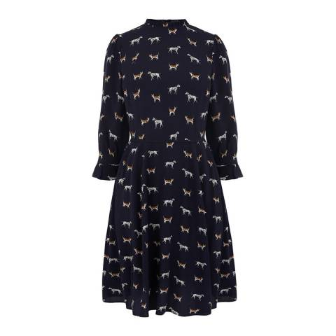 Oasis Midnight Cat And Dog Skater Dress