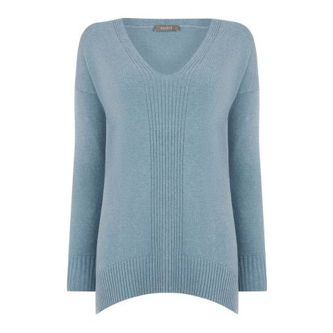Oasis Mid Blue Emily V Neck Jumper