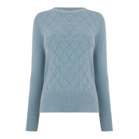 Oasis Mid Blue Blair Stitch Jumper