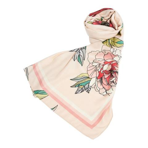 Oasis Natural/Multi Bold Bloom Scarf