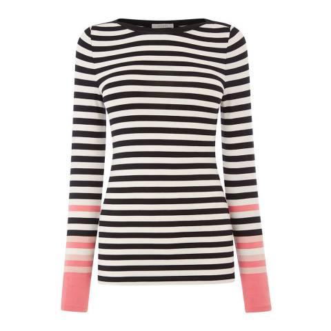 Oasis Black/Multi Bon Bon Stripe Top