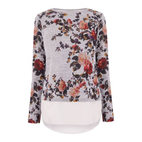 Oasis Grey/Multi Autumn Garden Knit Top