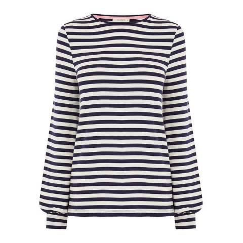 Oasis Midnight/Off White Stripe Top