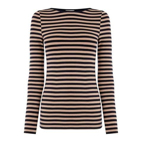 Oasis Midnight/Beige Easy Stripe Top
