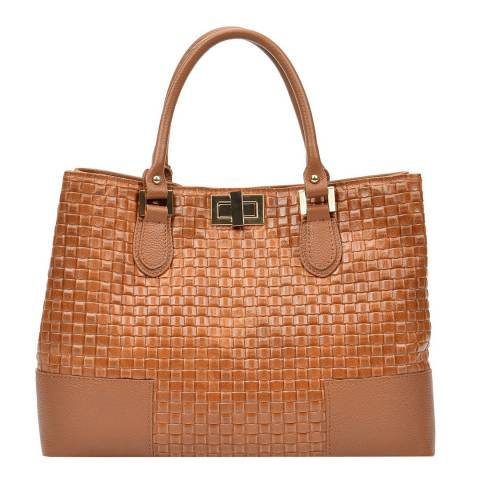 Carla Ferreri Cognac Tote Bag