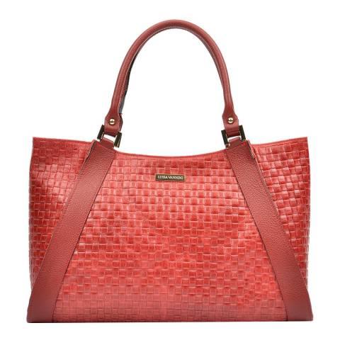 Luisa Vannini Red Tote Bag