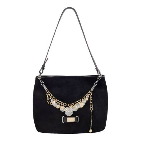 BiBi Bijoux Black Bag with detachable coin Necklace