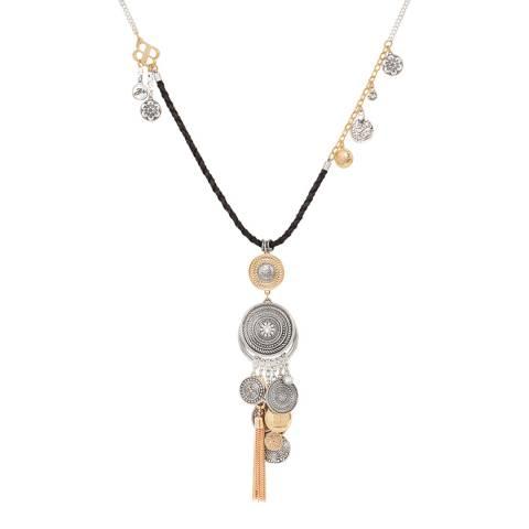 BiBi Bijoux Mixed Tones Coin Crystal Necklace