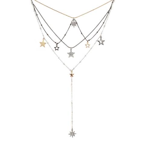 BiBi Bijoux Mixed tones Crystal Necklace