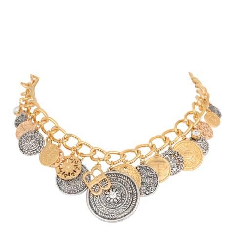 BiBi Bijoux Mixed Silver/Gold Tones Crystal Necklace