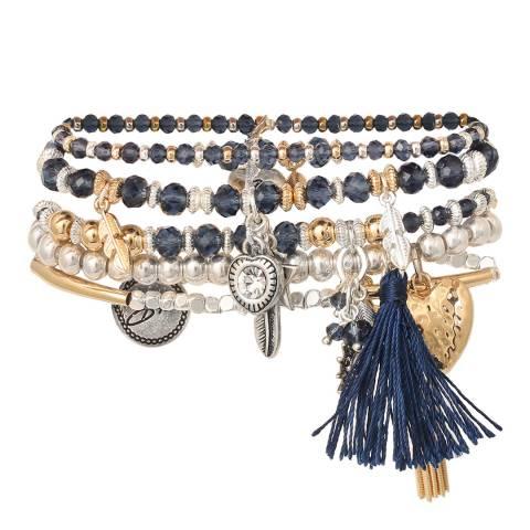 BiBi Bijoux Navy/Gold Crystal Bracelet