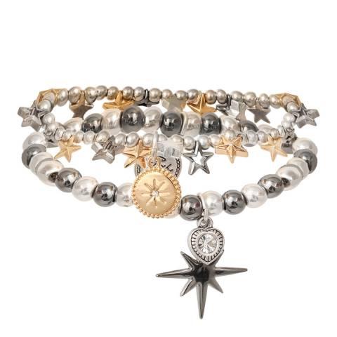 BiBi Bijoux Mixed Tones Silver/Gold Hematite Crystal Bracelet