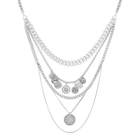 BiBi Bijoux Silver Crystal Necklace