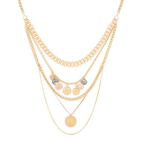 BiBi Bijoux Gold Crystal Necklace