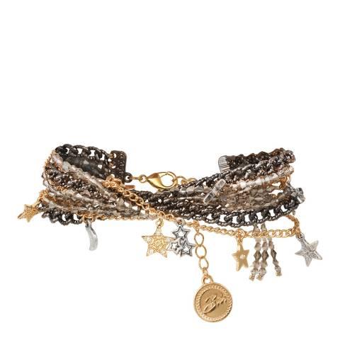 BiBi Bijoux Mixed Tones Silver/Gold Plated Hematite Crystal Bracelet