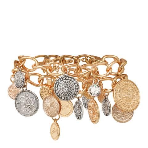 BiBi Bijoux Mixed Tones Silver/Gold Plated Crystal Bracelet