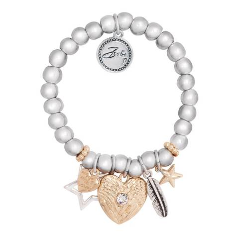 BiBi Bijoux Mixed Tones Silver/Gold Crystal Bracelet