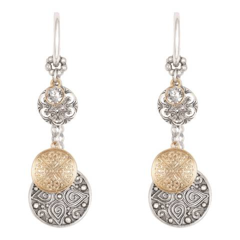 BiBi Bijoux Mixed Tone Silver/Gold Plated Crystal Earrings