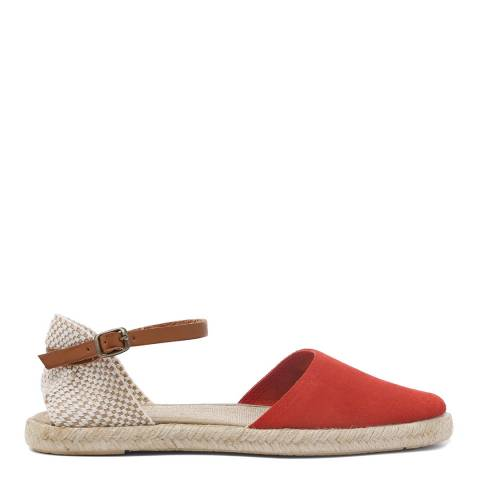 H by Hudson Dark Orange Suede Borneo Espadrilles