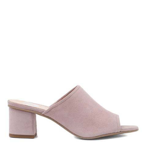 H by Hudson Taupe Suede Tabitha Heeled Mules
